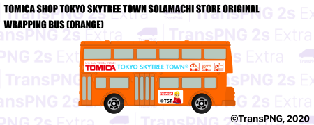 [T20010S] Tomica Shop Tokyo Skytree Town Solamachi Store Original Wrapping Bus (Orange) T20010S
