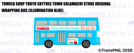 [T20012S] Tomica Shop Tokyo Skytree Town Solamachi Store Original Wrapping Bus (Illumination Blue) T20012S